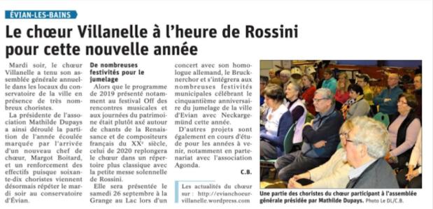 Article presse Villanelle 6 fevrier 2020